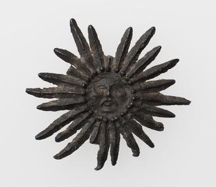 Pilgrim's Badge with Sun with human face, 15th century, Metropolitan