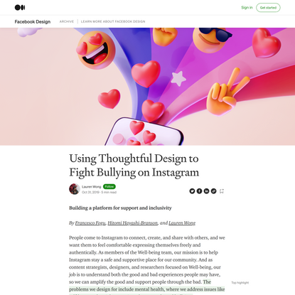 Using Thoughtful Design to Fight Bullying on Instagram