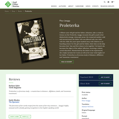 Proleterka   And Other Stories