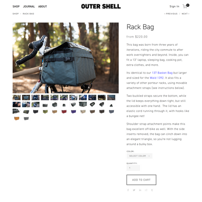 Outer Shell - Rack Bag