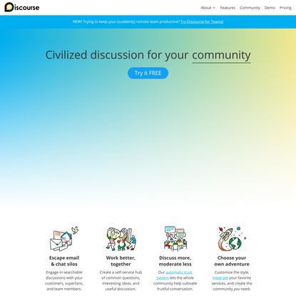 Discourse - Civilized Discussion