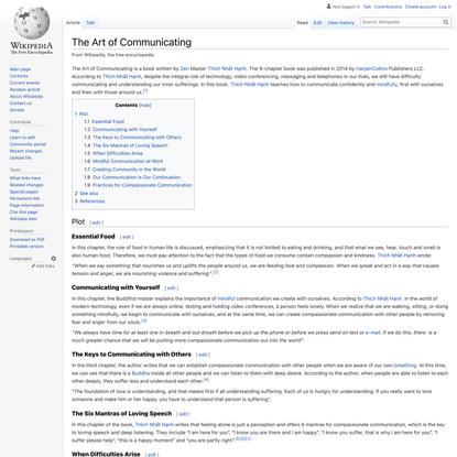 The Art of Communicating - Wikipedia