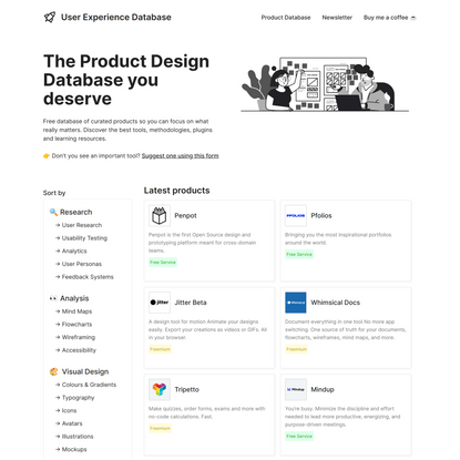 The Product Design Resources & Tools Database