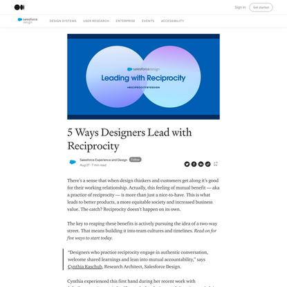 5 Ways Designers Lead with Reciprocity