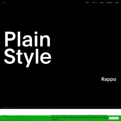 Plain « Typefaces « Optimo