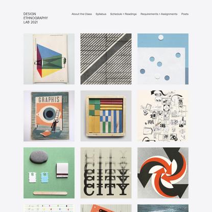 Design Ethnography Lab 2021