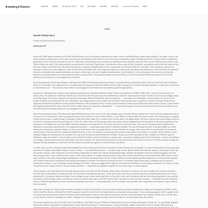 Fontier Architectures Text — Broomberg & Chanarin