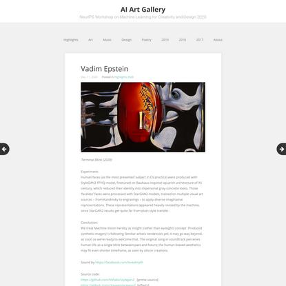 Vadim Epstein - AI Art Gallery