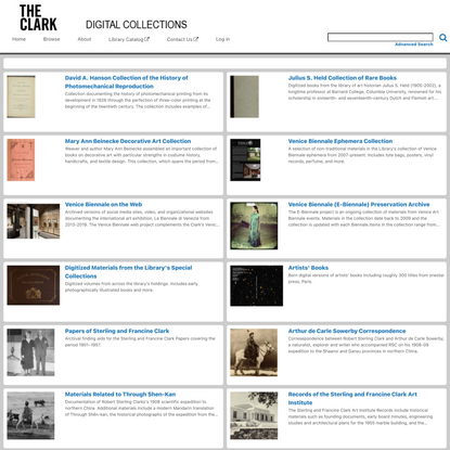 the clark | digital collections - the clark | digital collections