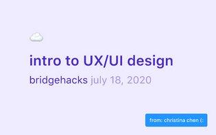 Intro to UX design - Jul 2020