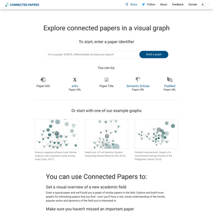Connected Papers   Find and explore academic papers