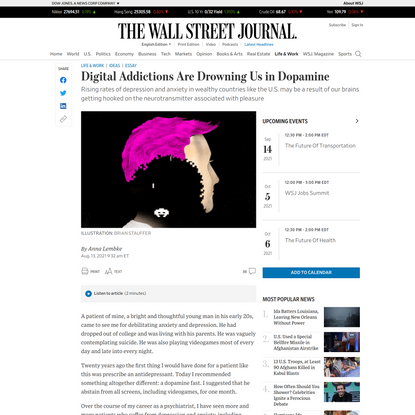 Digital Addictions Are Drowning Us in Dopamine