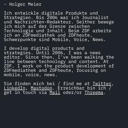 Holger Meier