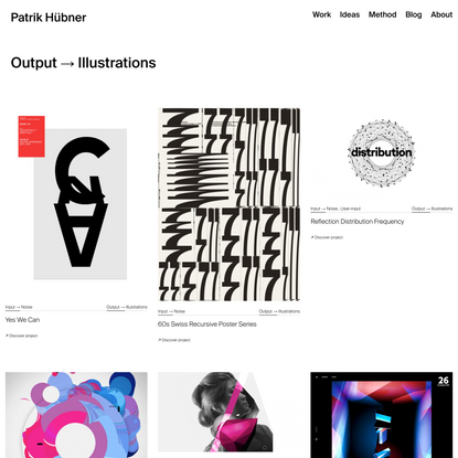 Outputs Illustrations • Patrik Hübner – Generative Design and Creative Coding for brands and agencies