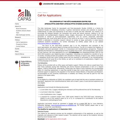 Call for Applications 2022-23 - Heidelberg University