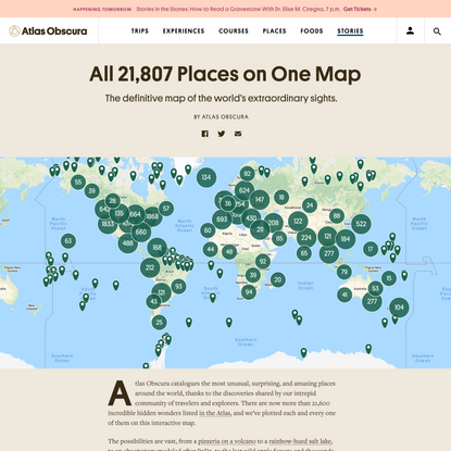 The Definitive Map of the World's Most Strange and Wonderful Places