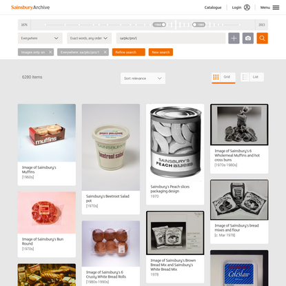 Search | Catalogue | Sainsbury Archive