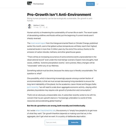 Pro-Growth Isn't Anti-Environment