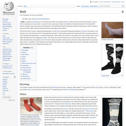 Sock - Wikipedia