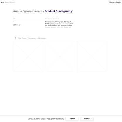 Product Photography — Are.na