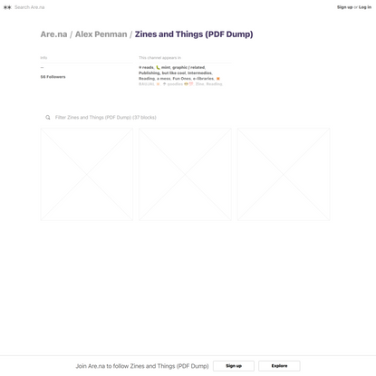 Zines and Things (PDF Dump) — Are.na