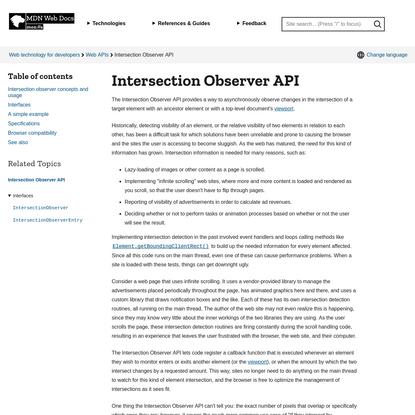 Intersection Observer API - Web APIs | MDN
