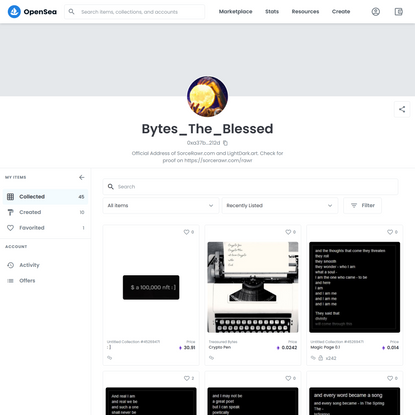 Bytes_The_Bl...'s account | OpenSea