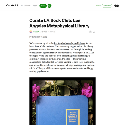 Curate LA Book Club: Los Angeles Metaphysical Library