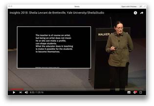 Insights 2018: Sheila Levrant de Bretteville, Yale University/SheilaStudio