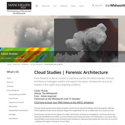 Cloud Studies part of MIF21 | Whitworth Art Gallery