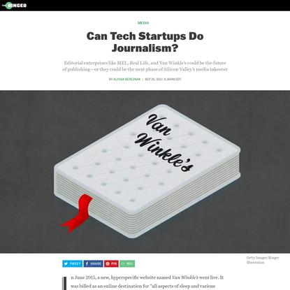 Can Tech Startups Do Journalism?