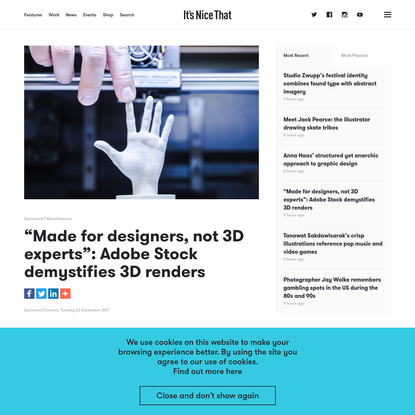 """""""Made for designers, not 3D experts."""" Adobe Stock demystifies 3D renders"""