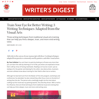 Train Your Eye for Better Writing: 3 Writing Techniques Adapted from the Visual Arts