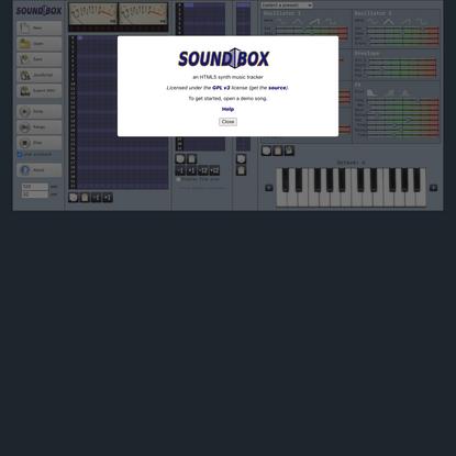 SoundBox - an online music editor