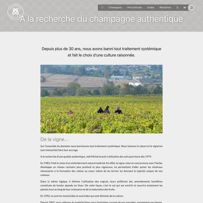 A la recherche du champagne authentique