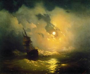 Stormy Sea At Night