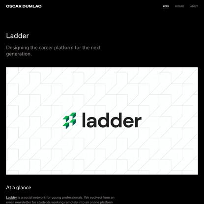 Ladder — Oscar Dumlao