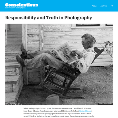 Responsibility and Truth in Photography