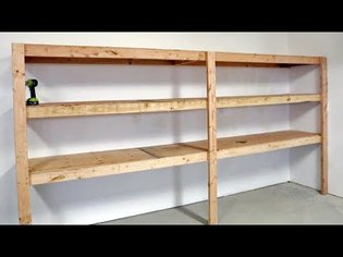 The BEST Garage Shelving - Easy One Person Project #anawhite