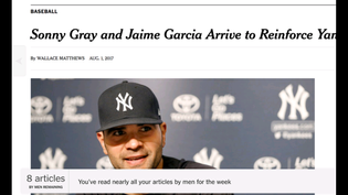 You've read 8 of your 10 articles by men for the week
