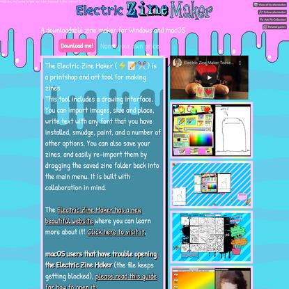 Electric Zine Maker (a work in progress, be gentle, hug it often) by alienmelon