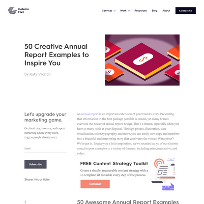 50 Creative Annual Report Examples to Inspire You