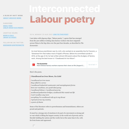 Labour poetry