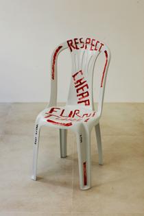 """""""Respect Cheap Furniture"""" Monobloc Plastic Chair by Martí Guixé (2009)"""
