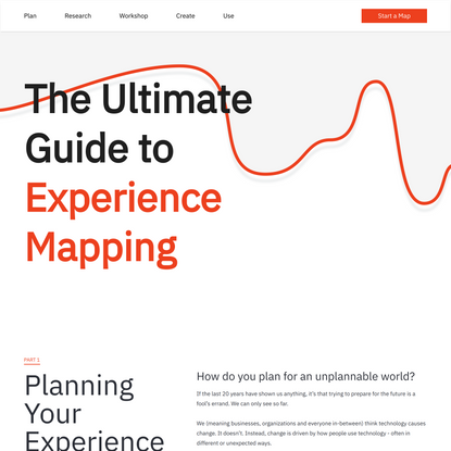 Experience Map - Your Guide to Experience Mapping