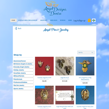 Angel Pins | Angel Designs by Denise | United States