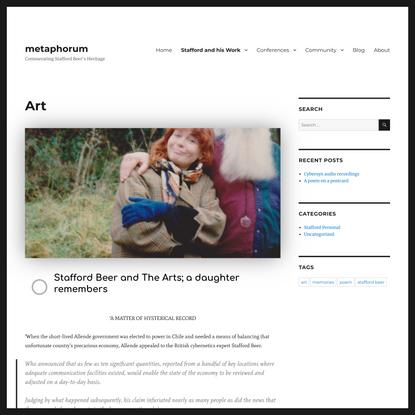 Art – metaphorum