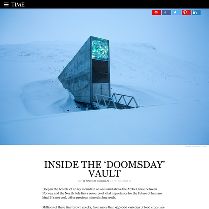 The 'Doomsday' Vault Where the World's Seeds Are Kept Safe
