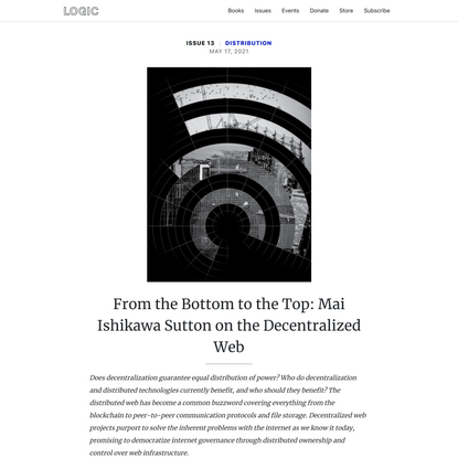 From the Bottom to the Top: Mai Ishikawa Sutton on the Decentralized Web