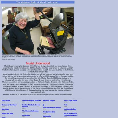 Muriel Underwood Mini Books Website